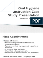 oral hygiene instruction case study presentation nlondon