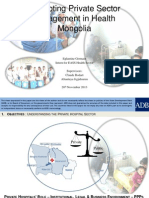 Promoting Private Sector Engagement in Health in Mongolia