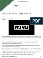 Jenis Jenis Valve