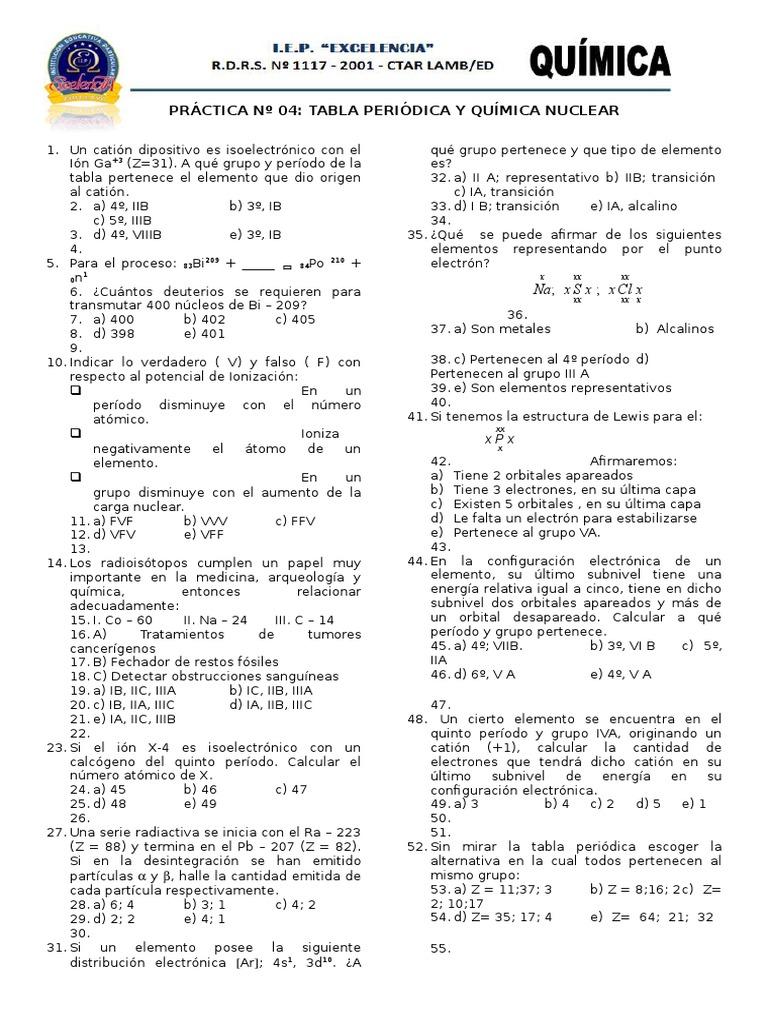 Ejercicios de quimica urtaz Choice Image