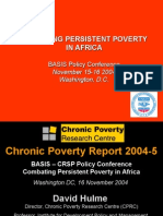 Presentation on Poverty - Conference 2004