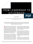 from leadership to citizenship