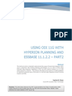 UsingODI 11g With Hyperion Planning and Essbase 11122-Part2