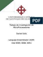 Trabajo de Investigación de MicroProcesadores