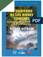 Elinor Ostrom - El Gobierno de Los Bienes Comunes