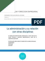 Relacion de La Administracion Con Otras Diciplinas disciplinas