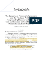 Sakili-Bangsamoro Framework Agreement Historical Cultural Facts Social Southern Philippines