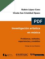 Investigación Artística en Música