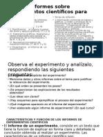 Elabora Informes Sobre Experimentos Científicos Para Aprender