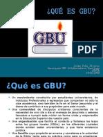 Qué es la GBU