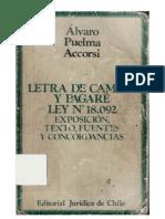Letra de Cambio y Pagare - Alvaro Puelma Accorsi