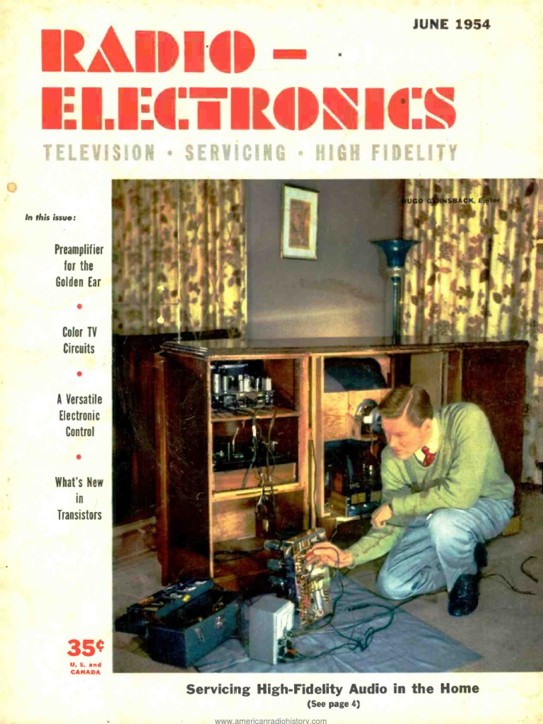 Radio Electronics 1954 06 Television Vacuum Tube Fig 6 Equivalent Circuit Of The Resistancecoupled Amplifier In