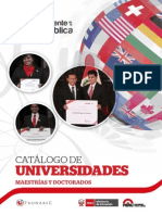Catalogo de Maestrías y Doctorados