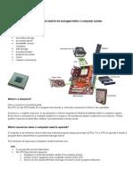 IB HL - Resource Management