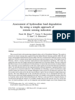 Assessment of Hydrosaline Land Degradation by Using a Simple Approach of Remote Sensing Indicators