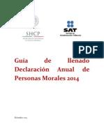 Guia Declaracionanual Personas Morales 2014