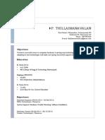Thillaimanvalan Resume