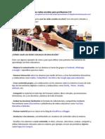 Guía Rápida Uso Redes p.profes 2.0
