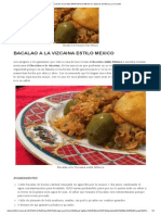 Bacalao a La Vizcaina Estilo Mexico