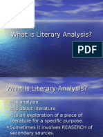 what is literary analysis.ppt