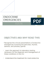 Endocrine Emergencies in the ICU