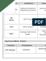 Karthik Resume