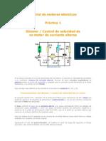 Control de Motores Eléctricos PRACTICA 1