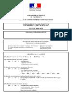 Formulaire Candidature Bourse Du Gouvernement Francais 2014-2015