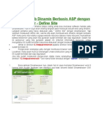 Membuat Web Dinamis Berbasis ASP Dengan Dreamweaver