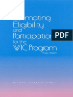 Estimating Eligibility and Participation for the WIC Program