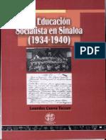 Educacion Socialista en Sinaloa 1934-1940