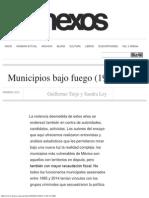 Municipios Bajo Fuego (1995-2014)