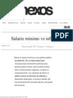 Salario Mínimo vs Inflación