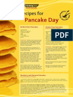 Pancake Recipes Sheet