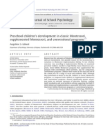 Preschool Children's Development in Classic Montessori, Supplemented Montessori, And Conventional Programs