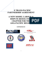 Final Official ITUC TransPacificPartnership Labor Chapter 2b29 TPP Labor Rights