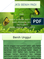 Produksi Benih Padi Kel 1 ppt