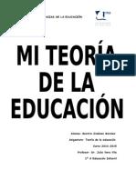 Mi Teoría de La Educación