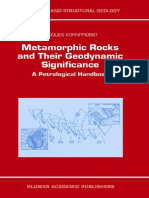 Metamorphic Rocks and Their Geodynamic Significance a Petrological Handbook Petrology and Structural Geology