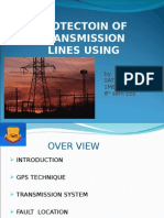 protection of transmission system using gps