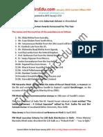 Current Affairs PDF January 2015