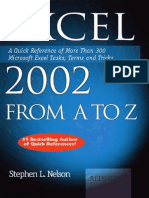 Excel Tips and Tricks 2002 From a to z