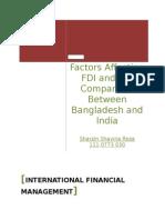 FDI in Bangladesh or India