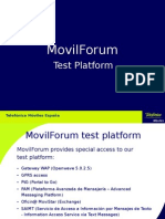 MovilForum Test Platform