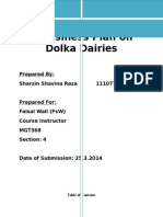 Business Plan of Dolka Dairies