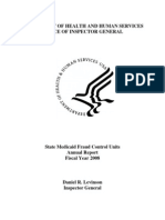 U.S. DHHS OIG Medicaid Fraud Control Units Annual Report 2008