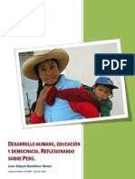 Human development, education and democracy. Reflecting on Peru.