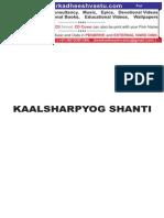 Kaalsharp Yog Shanti Astrology
