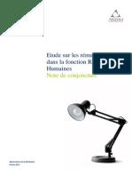 Remunerations FonctionRH 2014