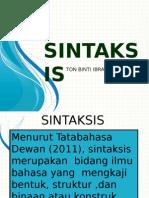 Dr Ton Sintaksis